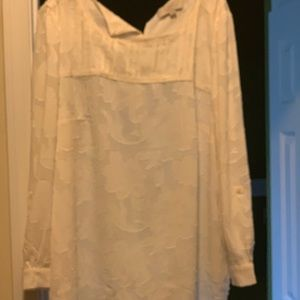 White Loft blouse - never worn